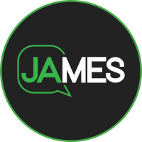 JAMES logo button